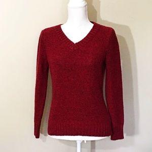 Vintage St. John's Bay, Red Knit V Neck Sweater
